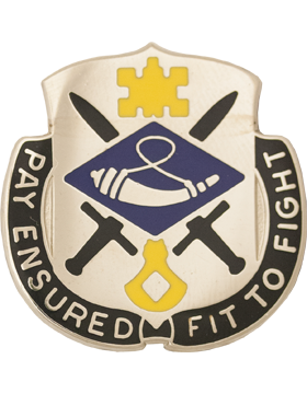 0726 Finance Bn Unit Crest (Pay Ensured Fit To Fight)