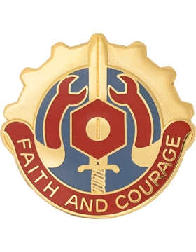0731 Maintenance Bn Unit Crest (Faith And Courage)