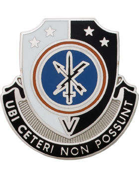 744th Military Intelligence Battalion Unit Crest (UBI CETERI NON POSSUNT)