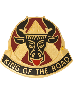 0812 Transportation Bn Unit Crest (King Of The Road)