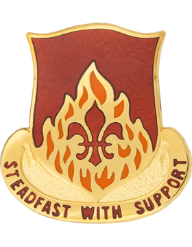 0832 Ordnance Bn Unit Crest (Steadfast With Support)