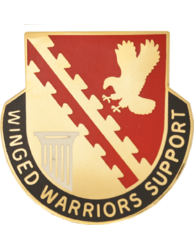 0834 Support Bn Unit Crest (Winged Warriors Support)
