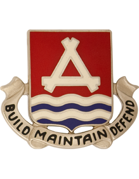 0841 Engineer Bn Unit Crest (Build Maintain Defend)