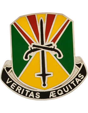 0850 Military Police BN Unit Crest (VERITAS AEQUITAS)