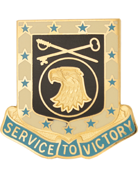 0856 Quartermaster Bn Unit Crest (Service To Victory)