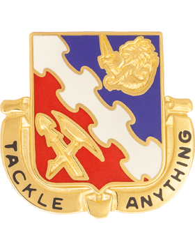863rd Engineer Battalion Unit Crest (Tackle Anything)