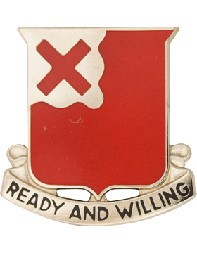 0875 Engineer Bn Unit Crest (Ready And Willing)