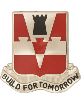 0876 Engineer Bn Unit Crest (Build For Tomorrow)