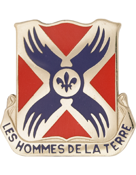 0877 Engineer Bn Unit Crest (Les Hommes De La Terre)