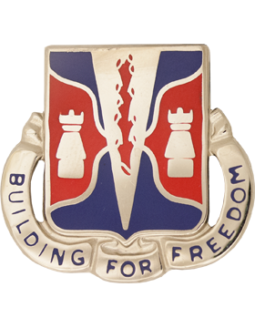0878 Engineer Bn Unit Crest (Building For Freedom)