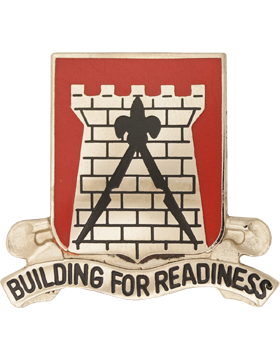 0891 Engineer Bn Unit Crest (Building For Readiness)
