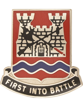 0898 Engineer Bn Unit Crest (First Into Battle)