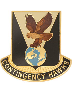 900th Support Battalion Unit Crest (Contingency Hawks)