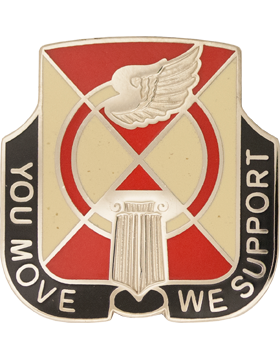 935th Support Battalion Unit Crest (You Move We Support)