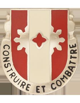 961st Engineer Battalion Unit Crest (Construire Et Combattre)