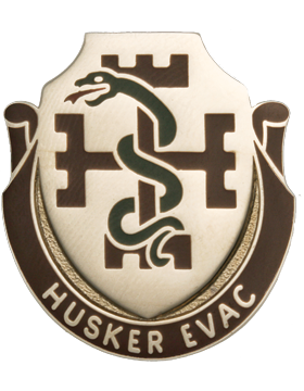 1024th Medical Battalion Unit Crest (Husker Evac)