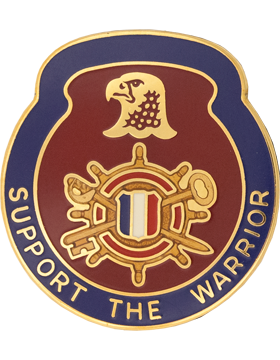 1034th Support Battalion Unit Crest (Support The Warrior)