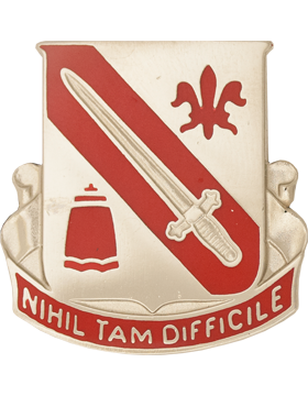 1092nd Engineer Battalion Unit Crest (Nihil Tam Difficile)