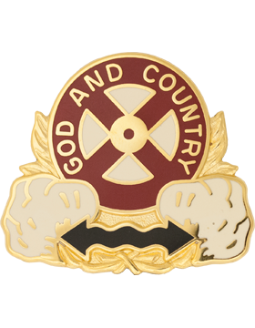 1103rd Transportation Battalion Unit Crest (God And Country)