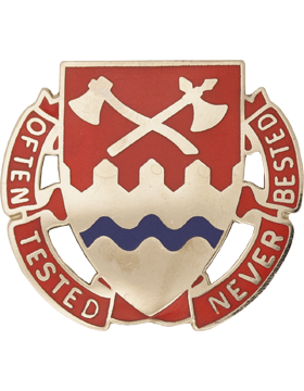 1140th Engineer Unit Crest (Often Tested Never Bested)