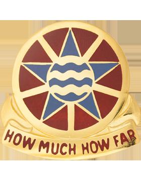 1144th Transportation Battalion Unit Crest (How Much How Far)