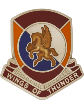1204th Support Battalion (Left) Unit Crest (Wings of Thunder)