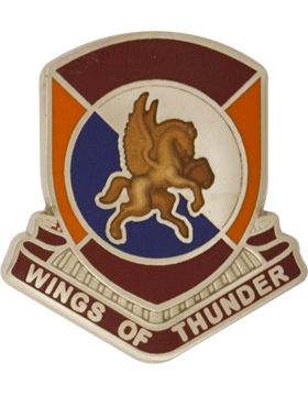 1204th Support Battalion (Right) Unit Crest (Wings of Thunder)