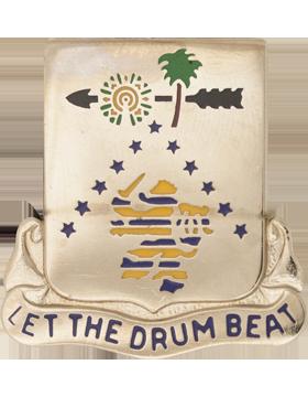 1225th Support Battalion Unit Crest (Let The Drum Beat)