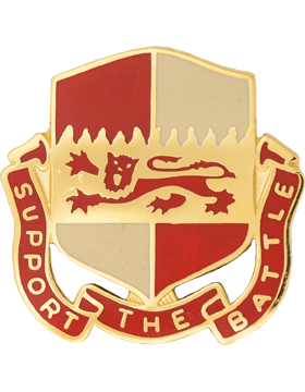 1297th Support Battalion Unit Crest (Support The Battle)