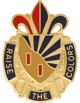 1889th Support Group Unit Crest (RAISE THE COLORS)