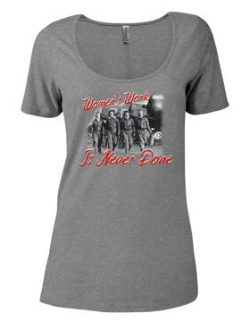 Ladies CVC Short Sleeve Scoop Neck Tee Women's Work P504C