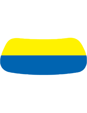 Yellow & Blue, Blank, Original Eyeblack EB-A1004