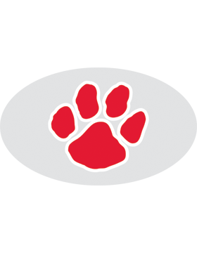 Paw Print Red, Clear EyeBlack (Sheet) EB-C1068
