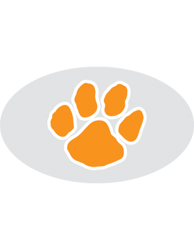 Paw Print Orange, Clear EyeBlack (Sheet) EB-C1069