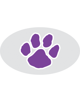 Paw Print Purple, Clear EyeBlack (Sheet) EB-C1070