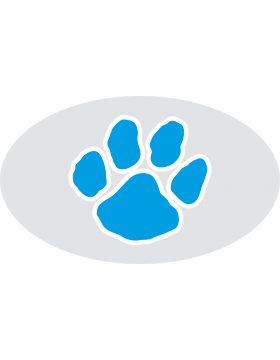 Paw Print Royal, Clear EyeBlack (Sheet) EB-C1071