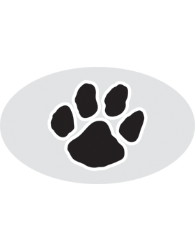 Paw Print Black, Clear EyeBlack (Sheet) EB-C1072