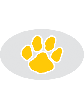 Paw Print Yellow, Clear EyeBlack (Sheet) EB-C1073