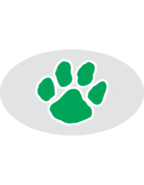 Paw Print Green, Clear EyeBlack (Sheet) EB-C1074