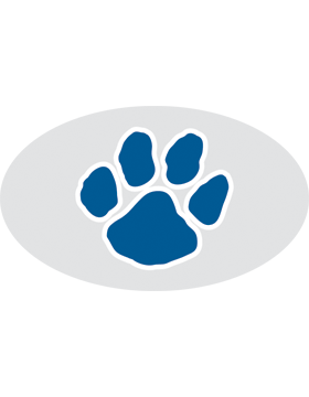 Paw Print Navy, Clear EyeBlack (Sheet) EB-C1075