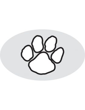 Paw Print White, Clear EyeBlack (Sheet) EB-C1076