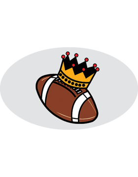 Football with Crown, Clear EyeBlack (Sheet) EB-C1141