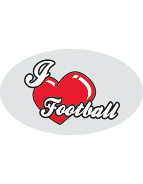 I Heart Football, Clear EyeBlack (Sheet) EB-C1145