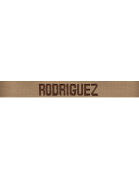 Army Name Tape Desert (Brown on Desert Sand) Embroidered EMB-103