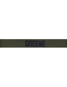 Air Force Name Tape Green Embroidered EMB-105