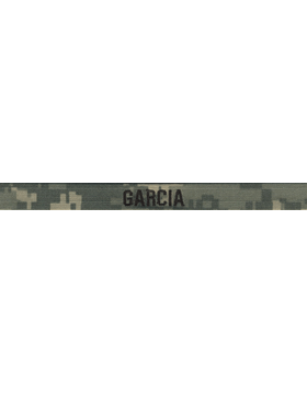 ACU Name Tape 1/2 inch Gortex with Fastener (Specify Name)