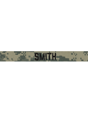 ACU Name Tape with Fastener Embroidered (Specify Name)