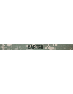 ACU Name Tape 1/2 inch Gortex without Fastener (Specify Name)