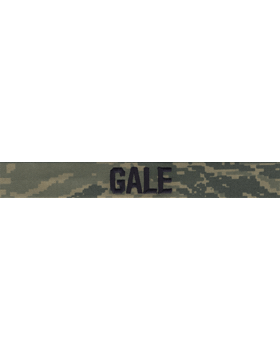 Air Force Name Tape Tiger Stripe (Regulation) Embroidered EMB-160B