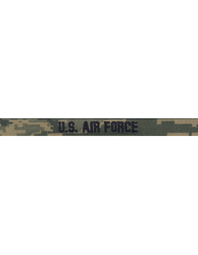 Air Force Name Tape Tiger Stripe 1/2